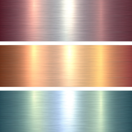 Metal  texture backgrounds, blue and gold brushed metallic texture plate. Çizim