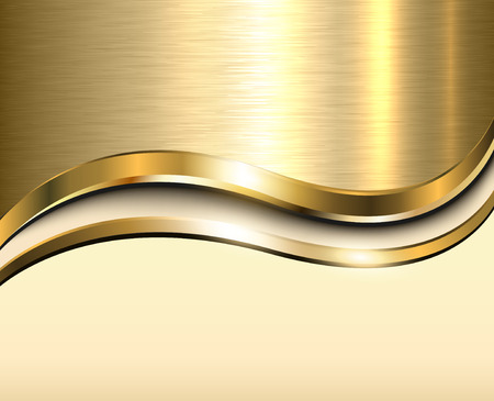 Background gold metallic with brushed metal  texture and copy space Ilustração
