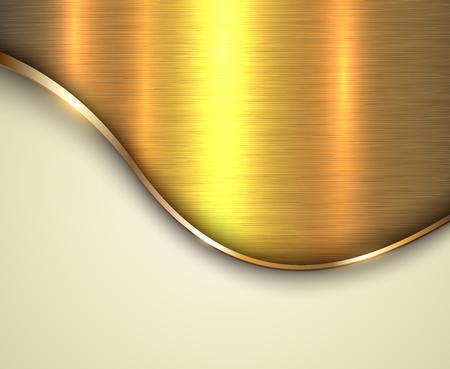 brushed steel: Background gold metallic with brushed metal  texture and copy space Illustration