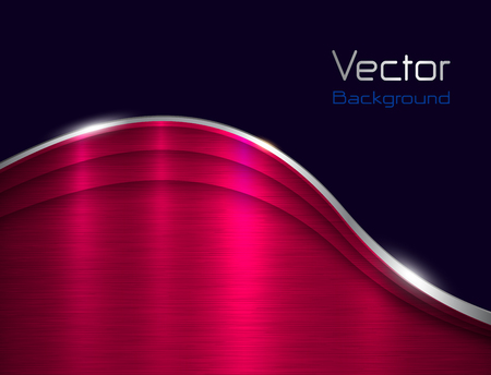 Background pink metallic with brushed metal  texture, vector illustration Vettoriali