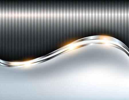 Elegant metallic background, shiny silver vector illustration.