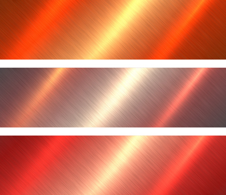 Metal textures orange and red brushed metallic background, vector illustration. Stock Vector - 84183718