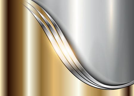 Background golden metallic vector design. Illustration