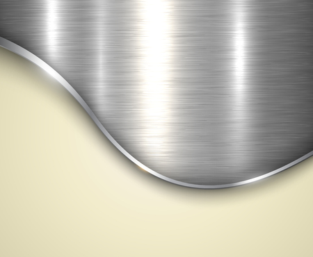 brushed: Background silver metallic with brushed metal  texture and copy space