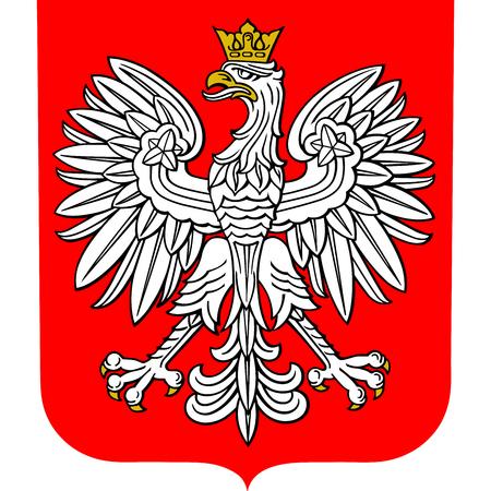 Herb Polski, ilustracji wektorowych.