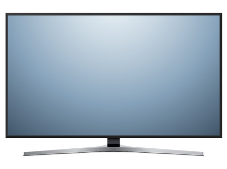 lcd display: TV, modern flat screen lcd, led television isolated