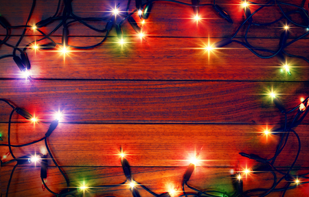 Christmas colorful lights, glittering background