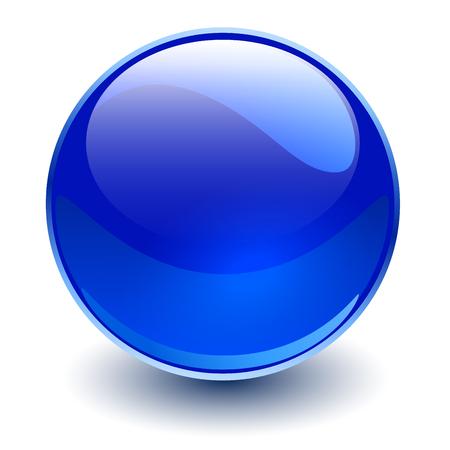 Sphère de verre, boule de vecteur bleu. Banque d'images - 89673686