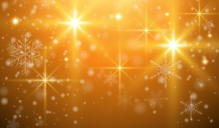 Christmas background with snowflakes and magical lights, vector  illustration Illustration