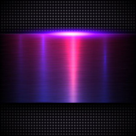 Background metallic texture purple blue, vector metal design.