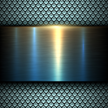 Background metal texture blue and orange, vector illustration. Illustration