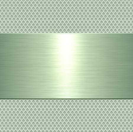 Metallic background, green metal plate texture - vector polished metal Stock Vector - 94726843
