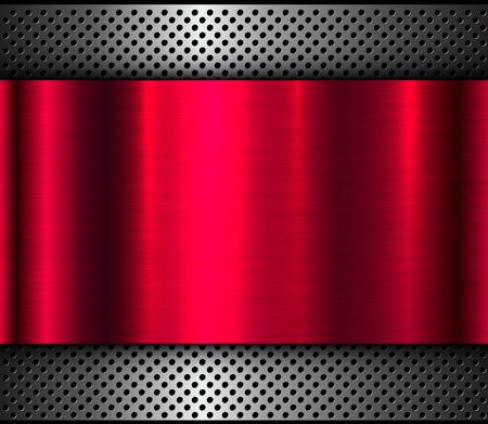 Background metal design over perforaterd texture, vector illustration. Stock Vector - 94726852
