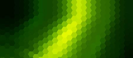 Green mosaic background, interesting hexagonal pattern vector background.