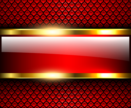 Abstract background glossy and shiny red metallic, vector illustration. Ilustração