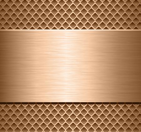 Metallic background  polished metal texture over perforated background, vector design. Reklamní fotografie - 100323105