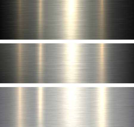 Steel metal backgrounds brushed metallic textures with reflections.
