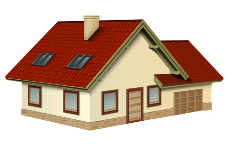 House icon, 3D isolated vector design.