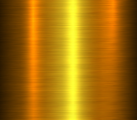 Gold metal background golden brushed metallic textures with reflections.  Illustration