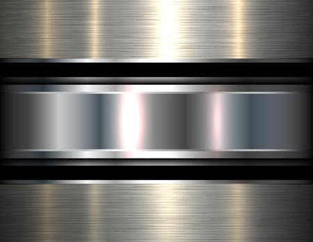 Metallic background silver, vector metal texture. Stock Vector - 102936822