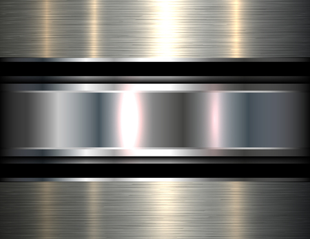 Metallic background silver, vector metal texture.