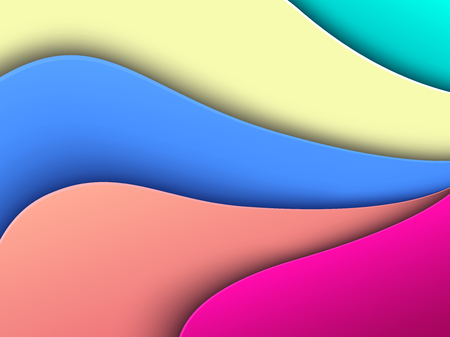 Abstract background, 3D colorful waves , interesting wavy vector illustration