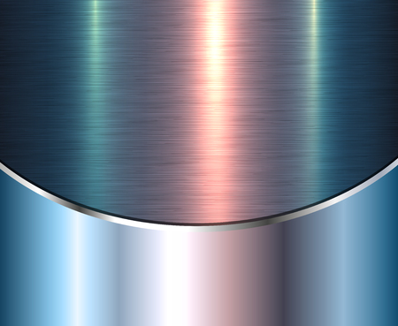 Background silver metallic with green brushed metal shiny texture, vector illustration. Illustration