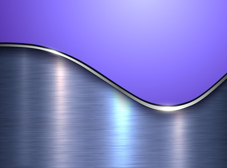 Purple metallic background, elegant with wave and metal texture, vector illustration.