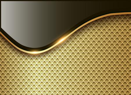 Abstract business background, elegant gold vector illustration.