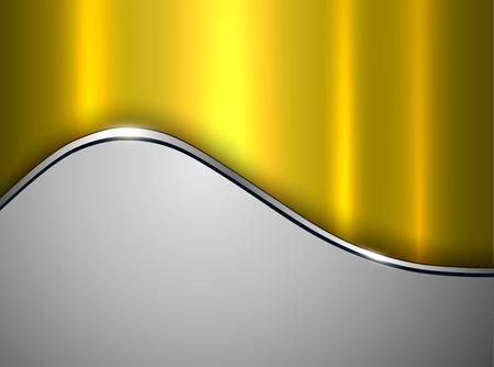 Silver gold metallic background, elegant grey vector illustration. Stock Vector - 104292617