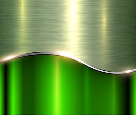 Fondo metálico verde plateado, elegante ilustración vectorial gris.