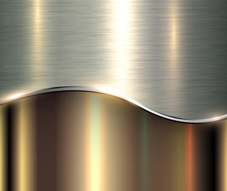 Shiny metallic background, elegant metal vector illustration.