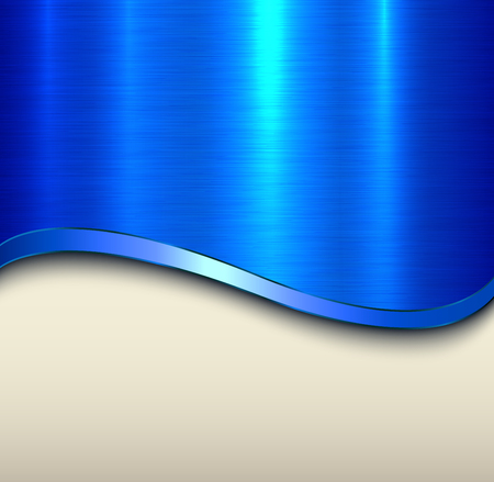 Background blue metal   texture, vector illustration. Stock Vector - 104698577