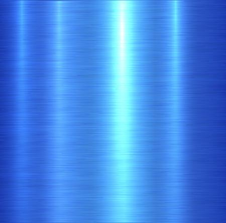 Metal texture blue brushed metallic background, vector illustration.