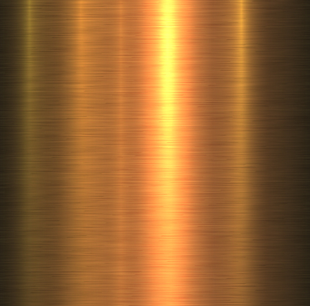 Metal texture gold brushed metallic background, vector illustration.