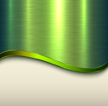 Background green metal  texture, vector illustration.