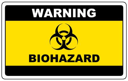 Peligro biológico, advertencia de señal de peligro, vector símbolo peligroso.