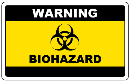 Biohazard, danger sign warning, vector dangerous symbol.