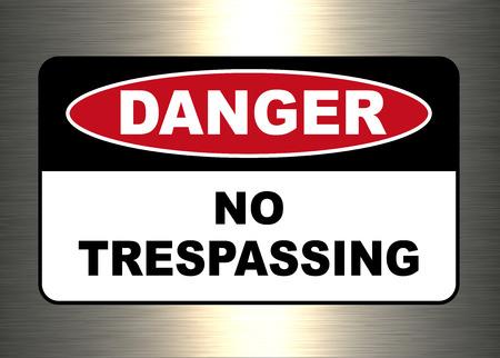 Danger, warning sign, no trespassing symbol. Stock Vector - 106607071