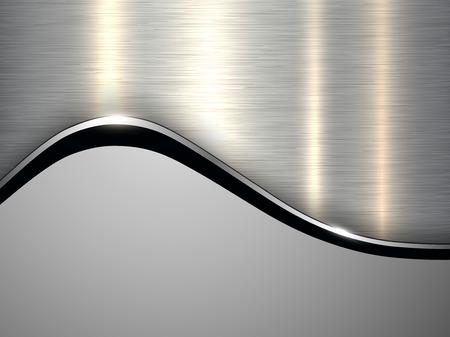 Silver grey metallic background, elegant vector illustration.