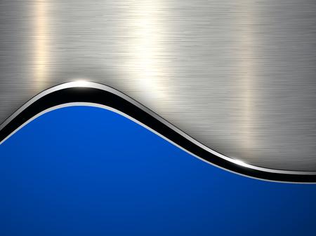 Elegant metallic background, silver blue vector design. Stock Vector - 111273123
