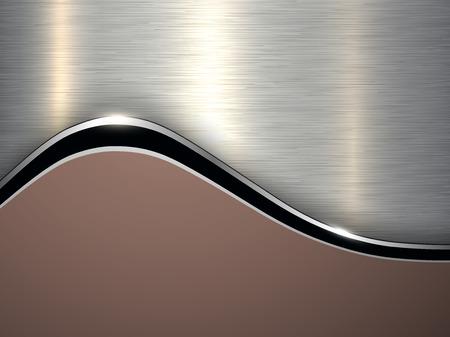 Elegant metallic background, silver brown vector design.