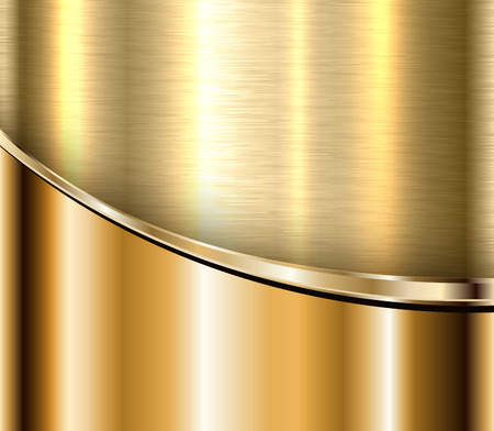 Gold metallic background, elegant shiny business abstract metal background
