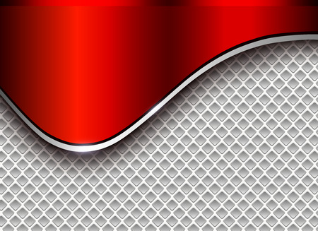 Abstract business background, elegant silver red vector illustration.