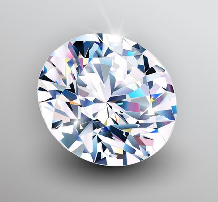 Background with diamond , shiny beautiful gemstone as romantic vector background.