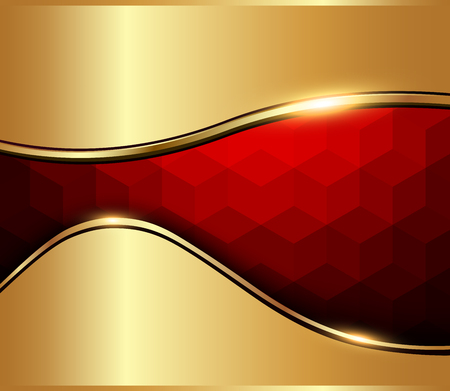 Abstract background red mosaic with vector hexagons texture. Çizim