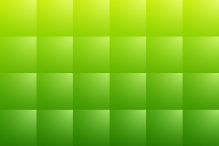 Green abstract background with square pattern, 3D vector illustration.
