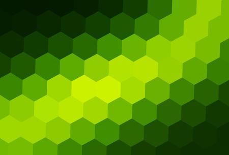 Green mosaic background, interesting hexagonal pattern vector background