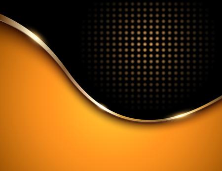 Business background orange and black, elegant vector illustration.