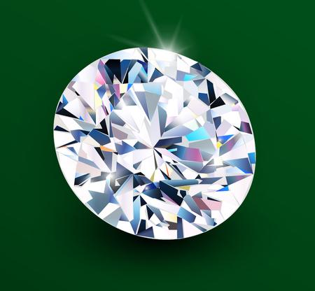 Background with diamond , shiny beautiful gemstone as romantic vector background.